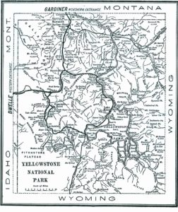 1904 Yellowstone map