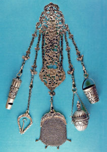 silver chatelaine