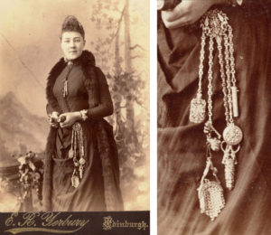 woman wearing chatelaine