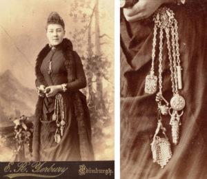 woman wearing chatelaine