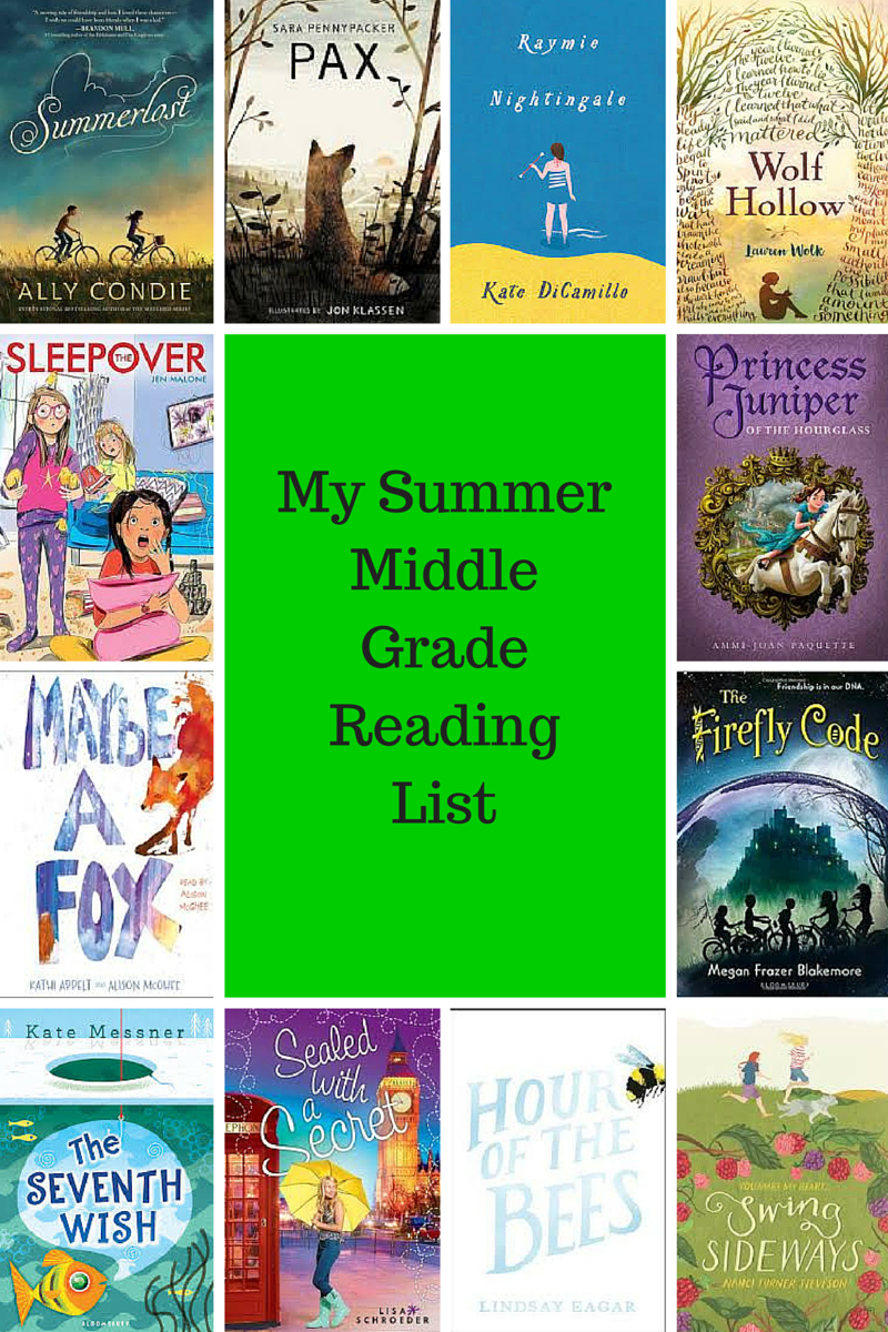 My Summer Middle Grade Reading List